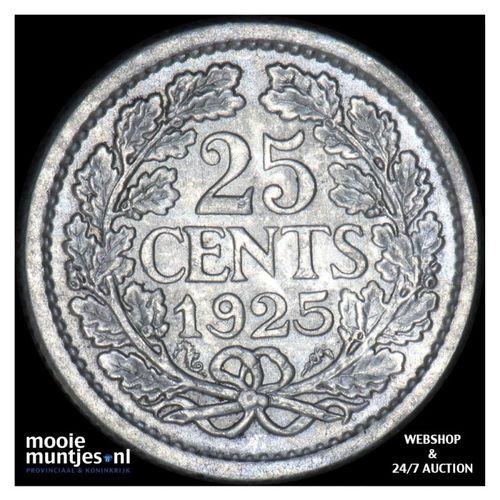 25 cent - Wilhelmina - 1925 (kant A)