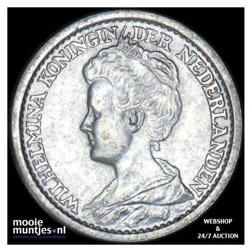 25 cent - Wilhelmina - 1925 (kant B)