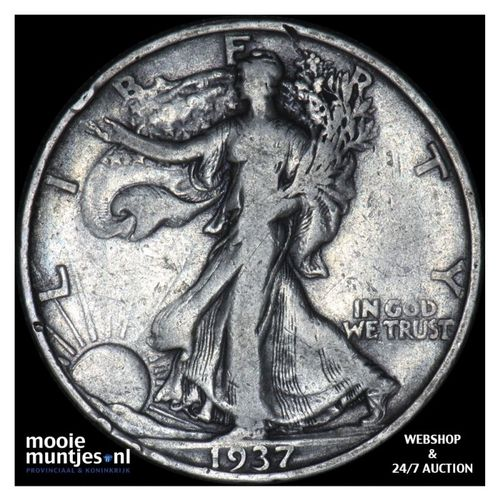 half dollar - walking liberty - United States of America 1937 S (KM 142) (kant A