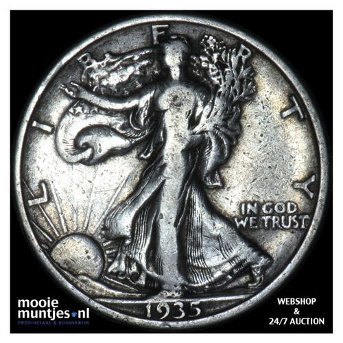 half dollar - walking liberty - United States of America 1935 (KM 142) (kant A)
