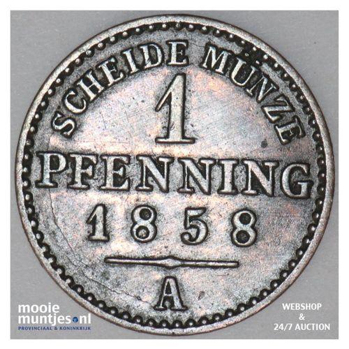 pfennig - German States/Lippe-Detmold 1858 A (KM 260) (kant A)