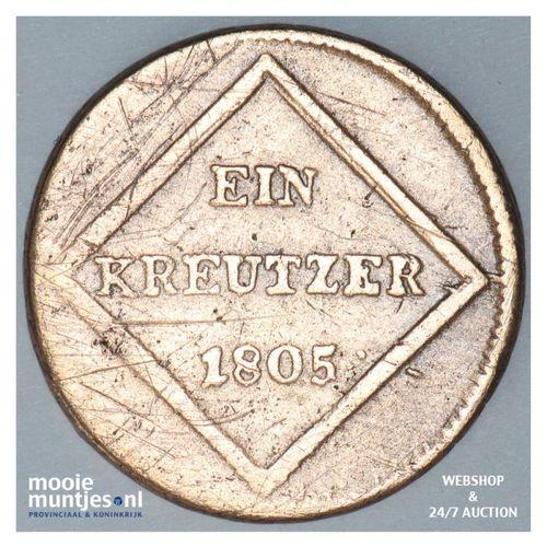 kreuzer - Austrian States/Salzburg 1805 (KM 491) (kant A)