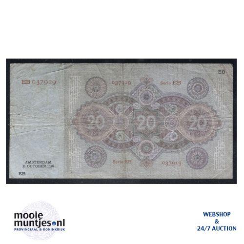 20 gulden - 1926 (Mev. 57-2 / AV 40) (kant B)
