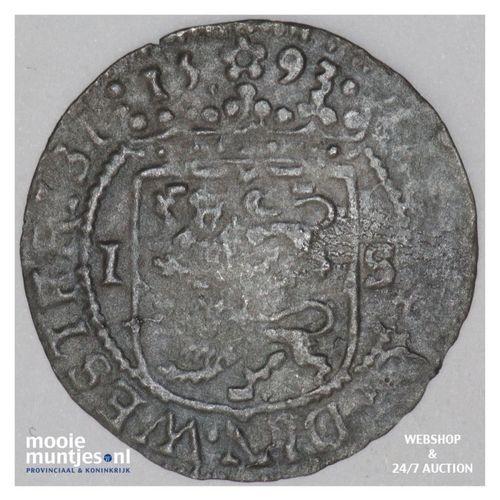 West-Friesland - Stuiver - 1593 (kant A)