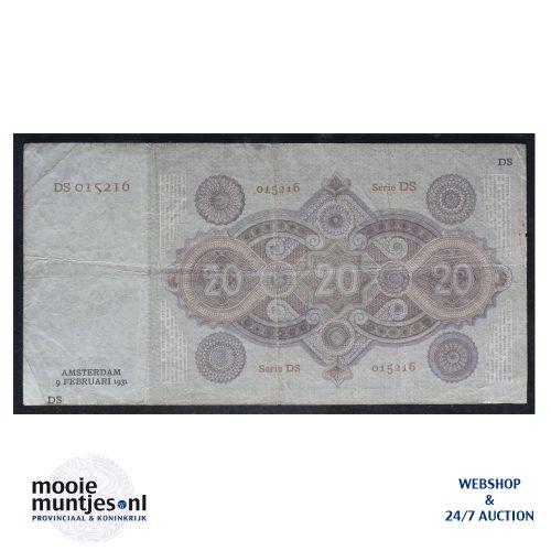 20 gulden - 1926 (Mev. 57-1b / AV 40) (kant B)