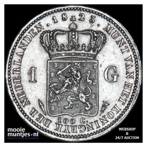 1 gulden - Willem I - 1823 Utrecht (kant A)