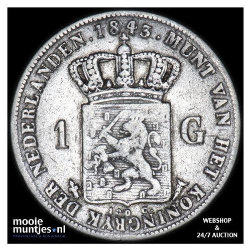 1 gulden - Willem II - 1843 (kant A)