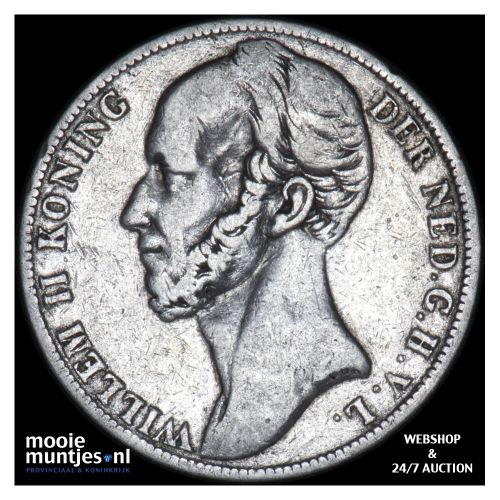 1 gulden - Willem II - 1843 (kant B)