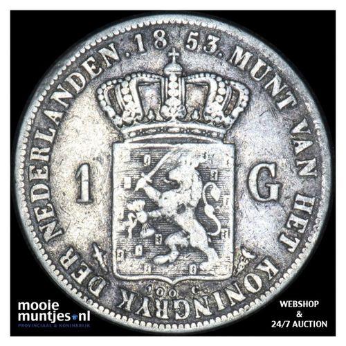 1 gulden - Willem III - 1853 (kant A)