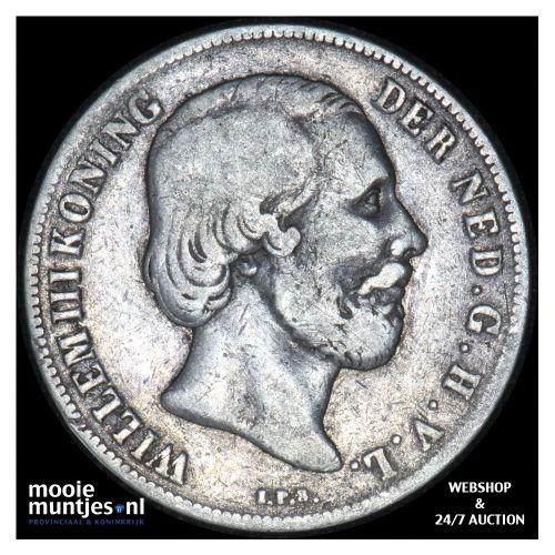 1 gulden - Willem III - 1853 (kant B)