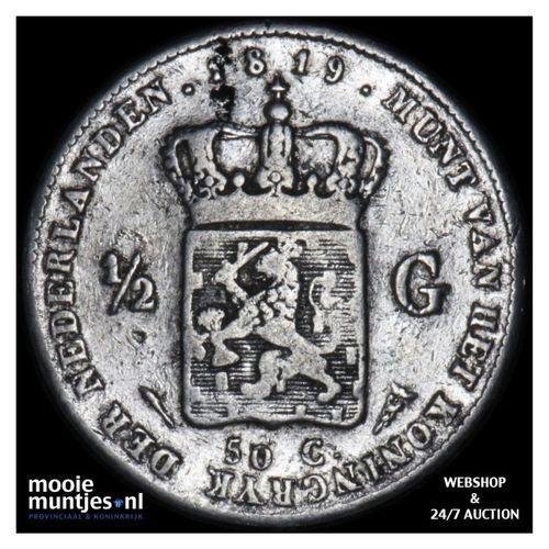 ½ gulden - Willem I - 1819 (kant A)
