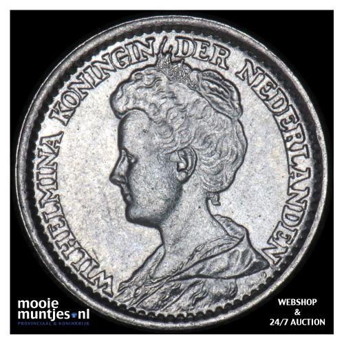 25 cent - Wilhelmina - 1919 (kant B)