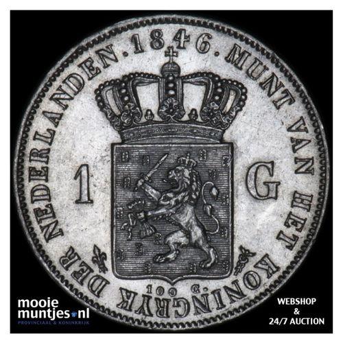 1 gulden - Willem II - 1846 lelie (kant A)