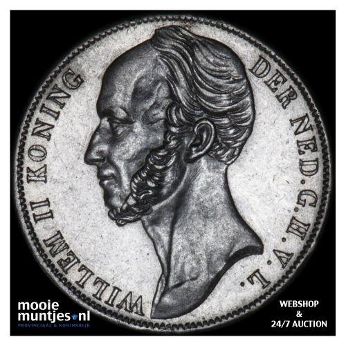1 gulden - Willem II - 1846 lelie (kant B)