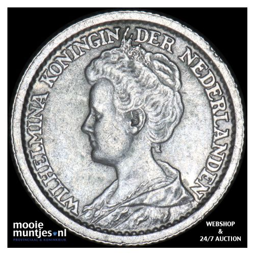 25 cent - Wilhelmina - 1914 (kant B)