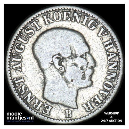 1/12 thaler (3 mariengroschen) - German States/Hannover 1851 (KM 206) (kant B)