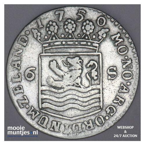 Zeeland - Scheepjesschelling - 1750 (kant A)