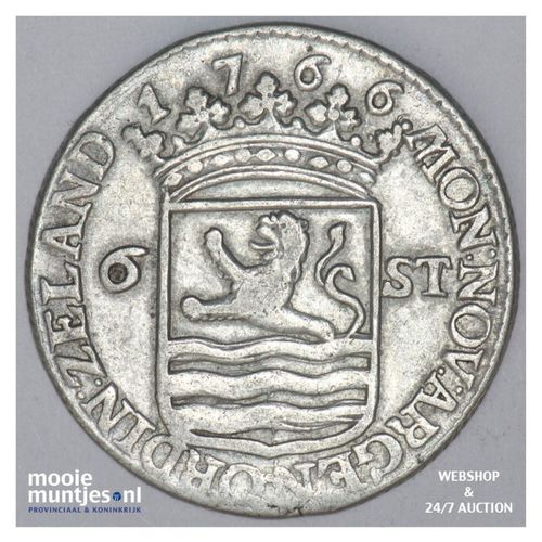 Zeeland - Scheepjesschelling - 1766 met ARGEN (kant A)