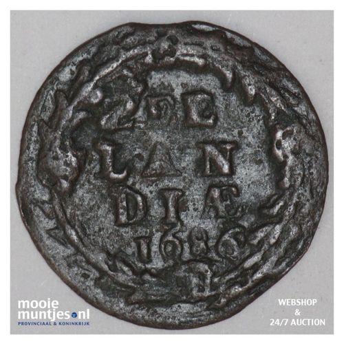 Zeeland - Duit - 1686 (kant A)