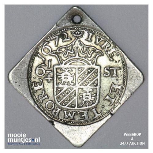 Groningen - 6¼ stuiver - 1672 (kant A)