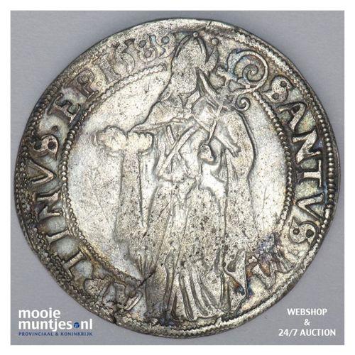 Stad Groningen - Acht stuiver of langrok - 1589 (kant A)