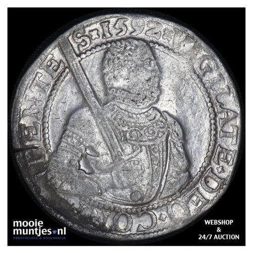 West-Friesland - Gehelmde rijksdaalder of Prinsendaalder - 1592 (kant A)