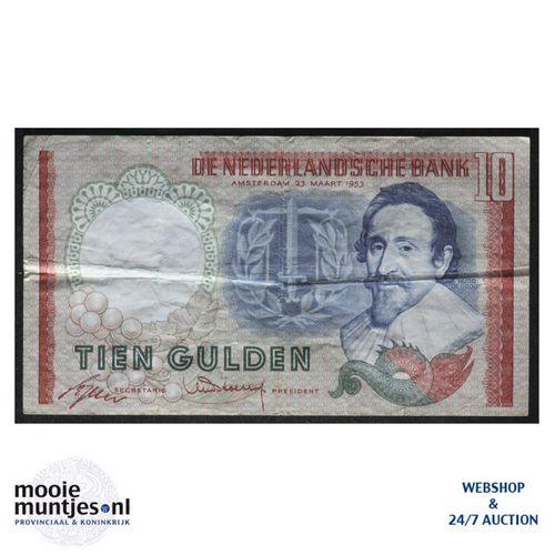 10 gulden  - 1953 (Mev. 48-1aa / AV 36) (kant A)