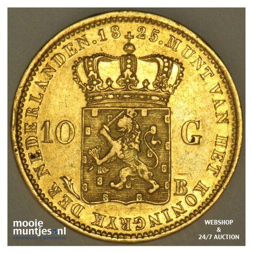 10 gulden - Willem I - 1825 Brussel (kant A)