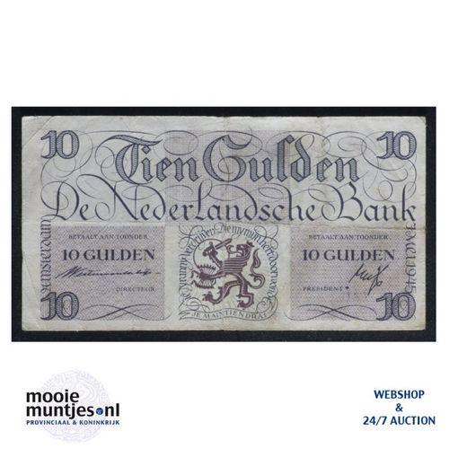 10 gulden  - 1945 (Mev. I 45-1a / AV 34) (kant A)