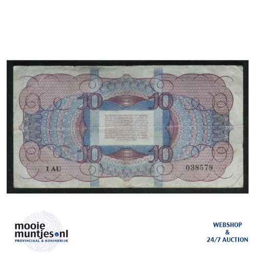 10 gulden  - 1945 (Mev. I 45-1a / AV 34) (kant B)
