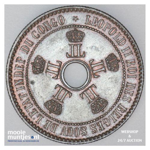 5 centimes - Congo Free State 1887 (KM 3) (kant B)
