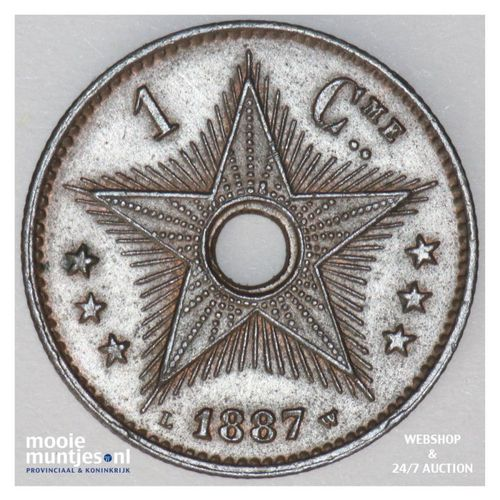 centime - Congo Free State 1887 (KM 1) (kant A)