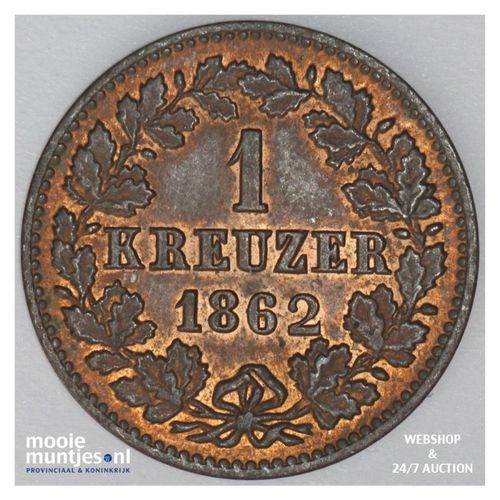 kreuzer - united Nassau - German States/Nassau 1862 (KM 74) (kant A)