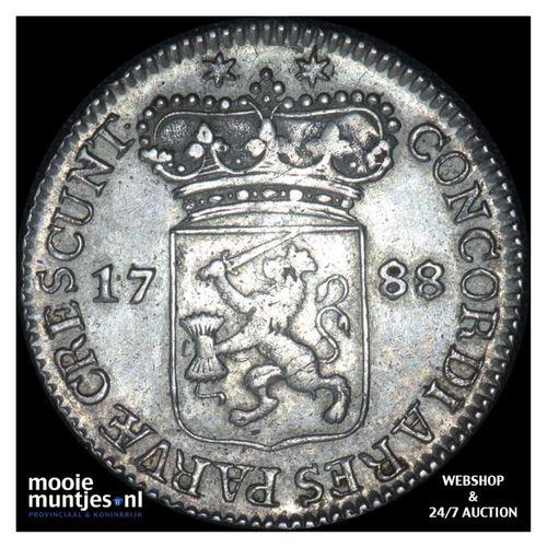Zeeland - Halve zilveren dukaat - 1788 (kant A)
