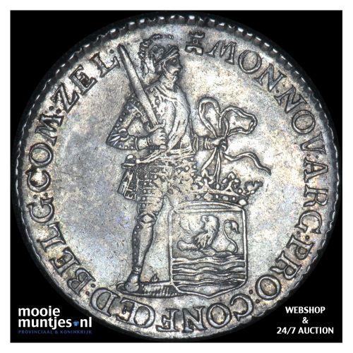 Zeeland - Halve zilveren dukaat - 1788 (kant B)