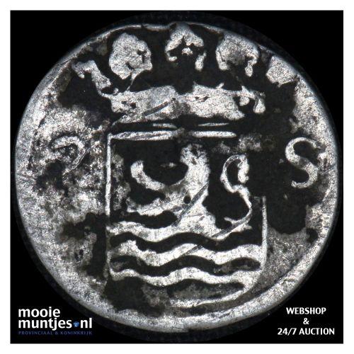 Zeeland - Dubbele wapenstuiver - 1707 (kant B)