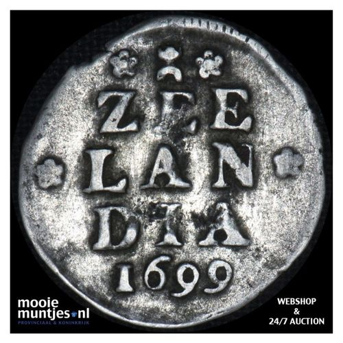Zeeland - Dubbele wapenstuiver - 1699 (kant A)