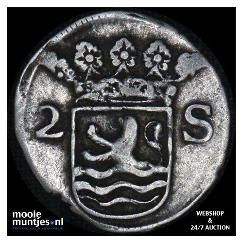 Zeeland - Dubbele wapenstuiver - 1699 (kant B)