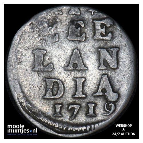 Zeeland - Dubbele wapenstuiver - 1719 (kant A)