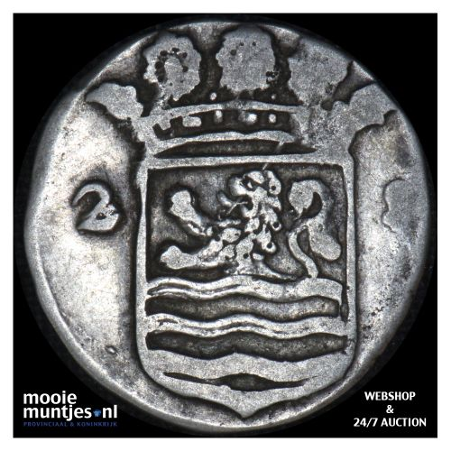 Zeeland - Dubbele wapenstuiver - 1719 (kant B)