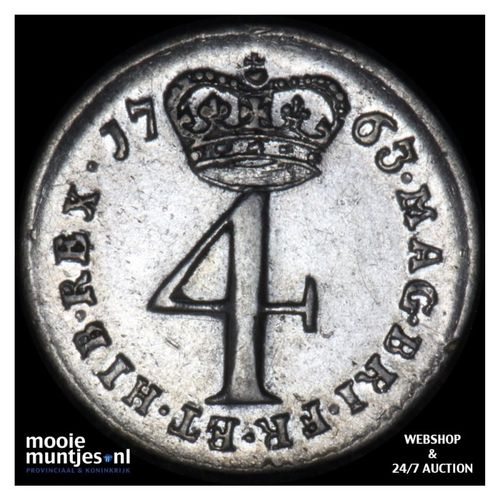 4 pence (groat) - Great Britain 1763 (KM 596.1) (kant A)