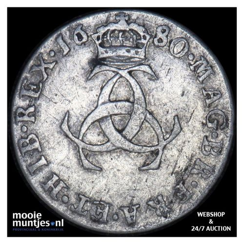 3 pence - pre-decimal coinage - Great Britain 1680 (KM 433) (kant A)