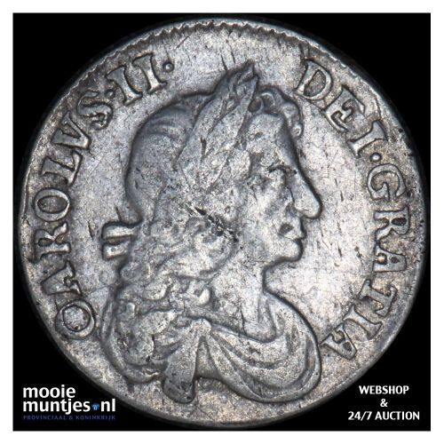 3 pence - pre-decimal coinage - Great Britain 1680 (KM 433) (kant B)