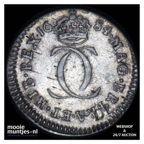 2 pence (1/2 groat) - pre-decimal coinage - Great Britain 1684 (KM 429) (kant A)