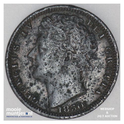 1/2 farthing - Great Britain 1830 (KM 704.2) (kant A)