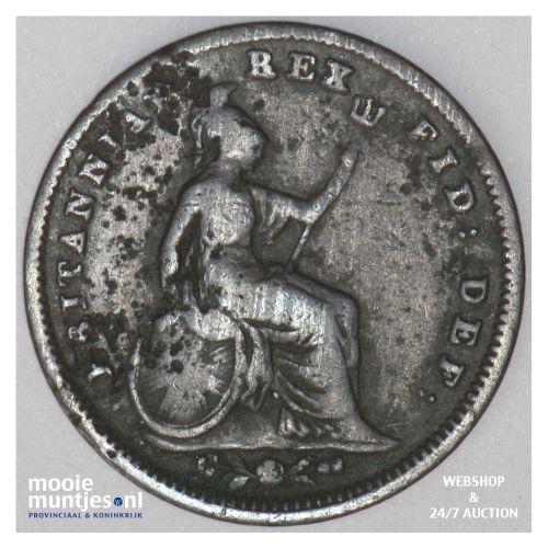 1/3 farthing - Great Britain 1833 (KM 721) (kant B)