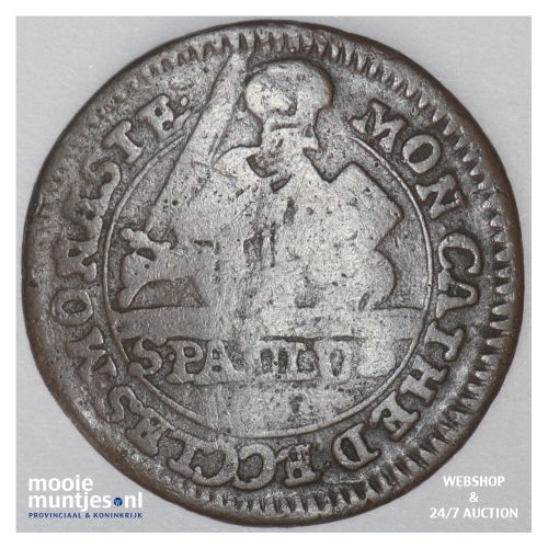 3 pfenning - (cathedral chapter) - German States/Munster 1748 (KM 430) (kant B)
