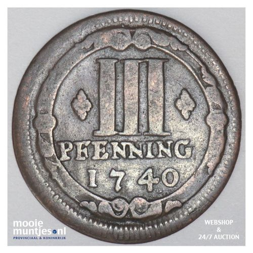 3 pfenning - (cathedral chapter) - German States/Munster 1740 (KM 430) (kant A)