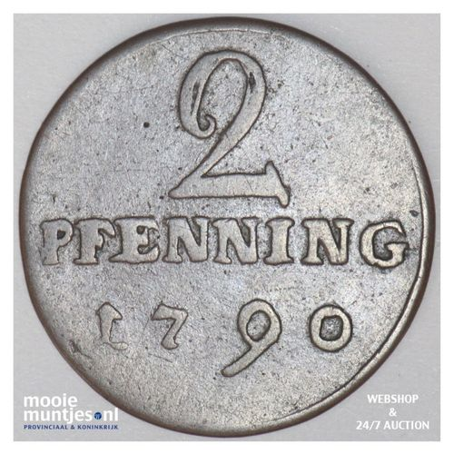 2 pfenning - (cathedral chapter) - German States/Munster 1790 (KM 451) (kant A)