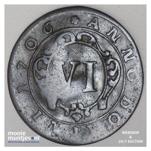 6 pfennig - boshopric - German States/Paderborn 1706 (KM 173.2) (kant A)